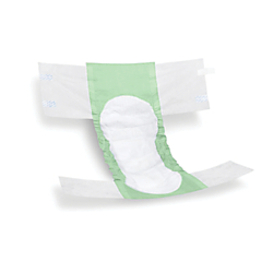 FitRight Extra Disposable Briefs, XX-Large, Green/White, 20 Briefs Per Bag, Case Of 4 Bags