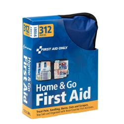 First Aid Only All-Purpose Essentials Soft-Sided First Aid Kit, 9 1/4in.H x 7 1/2in.W x 2 7/8in.D, Blue