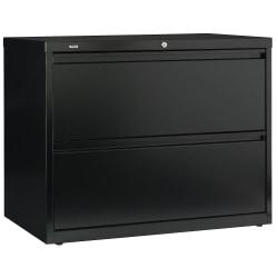 Bush Business Furniture Synchronize 1000 2 Drawer Lateral Metal File Cabinet, 36in.W, Satin Black, Premium Installation