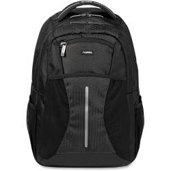 Lorell Carrying Case (Backpack) for 15.6in. Notebook - Black - Polyester, Mesh, Elastic - Shoulder Strap, Handle