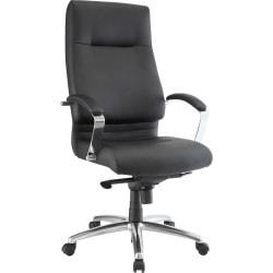 Lorell(R) Modern Executive High-Back Chair, Black