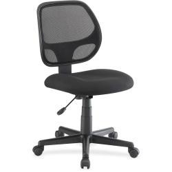 Lorell Multi-task Chair - Fabric Black Seat - Black Back - 5-star Base - Black - 19.25in. Seat Width x 18.25in. Seat Depth - 23.3in. Width x 25.5in. Depth x 39i