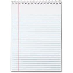 TOPS Docket Wirebound Legal Writing Pads - Letter - 70 Sheets - Wire Bound - 0.34in. Ruled - 16 lb Basis Weight - 8 1/2in. x 11in. - 11in. x 8.5in. - White Pape
