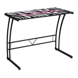 Lumisource Top Sigma Computer Desk, 29 1/2in.H x 35in.W x 20in.D, Zebra Graphic