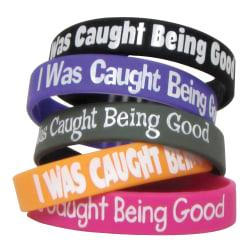 Teacher Created Resources Wristbands, I Was Caught Being Good, 7 1/4in., Assorted Colors, Pre-K - Grade 12, Pack Of 10