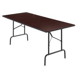 Realspace Folding Table, 6ft. Wide, 29in.H x 72in.W x 30in.D, Light Walnut
