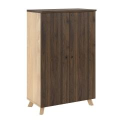 Ameriwood(TM) Home AX1 Storage Cabinet, 3 Shelves, Walnut
