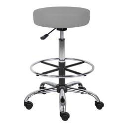Boss Office Products Medical Drafting Stool, Gray Caressoft