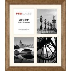 PTM Images Photo Frame, 4 Opening Collage, 23 1/2in.H x 2in.W x 27 1/2in.D, Champagne