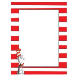Eureka(R) Dr. Seuss(TM) The Cat In The Hat(TM) Computer Paper, 8 1/2in. x 11in., 24 Lb, Multicolor, 50 Sheets Per Ream, Case Of 6 Reams