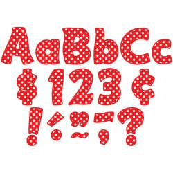Teacher Created Resources Funtastic Font Polka Dot Letters And Numbers, 4in., Red, Pre-K - Grade 8, Pack Of 208