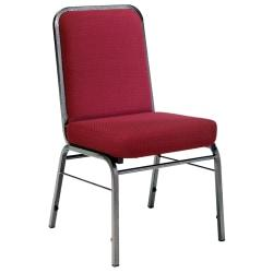 OFM ComfortClass Heavy-Duty Stack Chairs, 35 1/2in.H x 19 1/2in.W x 24in.D, Wine Fabric, Set Of 6