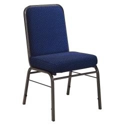 OFM ComfortClass Heavy-Duty Stack Chairs, 35 1/2in.H x 19 1/2in.W x 24in.D, Pinpoint Navy Fabric, Set Of 6