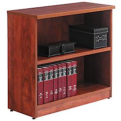 Alera(R) Valencia Series Bookcase/Storage Cabinet, 2 Shelves, Medium Cherry