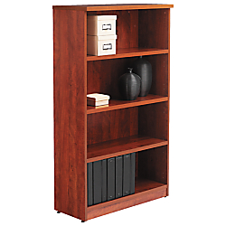 Alera(R) Valencia Series Bookcase/Storage Cabinet, 4 Shelves, Medium Cherry