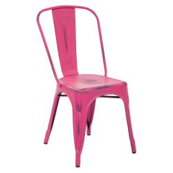 Office Star(TM) Bristow Armless Chairs, Antique Pink, Set Of 2 Chairs