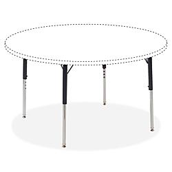Lorell(R) Classroom Adjustable Activity Table Legs, Standard-Height, Black/Chrome, Set Of 4