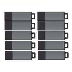 Centon DataStick Pro USB 2.0 Flash Drives, 2GB, Pro Gray, Pack Of 25 Flash Drives, S1-U2P1-2G25PK