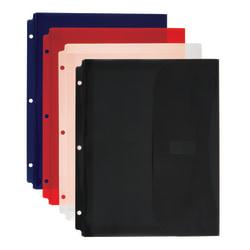 Office Depot(R) Brand Expanding Binder Pocket, 8 1/2in. x 11in., Assorted Colors