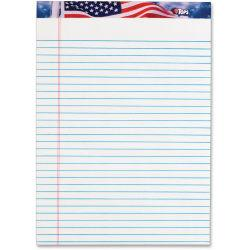TOPS American Pride Legal Rule Writing Pad - 50 Sheets - Legal Ruled - 16 lb Basis Weight - 8 1/2in. x 11 3/4in. - 2.4in. x 11.8in.8.5in. - White Paper - Ink Re