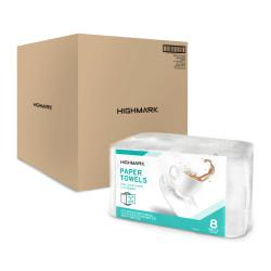 Highmark(TM) 3-Ply Tear-A-Size Kitchen Roll Towels, White, 11in. x 5in., 110 Towels Per Roll, Pack Of 8 Rolls, Case Of 4 Packs