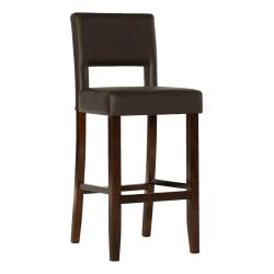 Linon Home Decor Products Vega Bar Stool, Dark Brown/Espresso