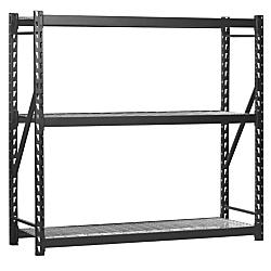 Edsal Heavy-Duty Welded Storage Rack, 72in.H x 72in.W x 24in.D, Black