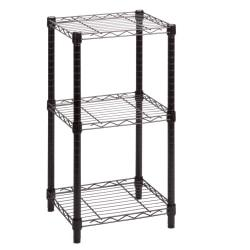 Honey-Can-Do Urban Steel Adjustable Storage Shelving Unit, 3-Tiers, Black