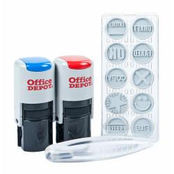 Office Depot Brand Self-Inking Office Kit, Blue/Red