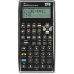HP 35s Scientific Calculator - 100 Functions - Independent Memory, Keystroke Programming, Power OFF Memory Protection - 30 KB - 2 Line(s) - 14 Digits - LCD - Ba