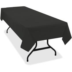 Tablemate Heavy-duty Plastic Table Covers - 108in. Length x 54in. Width - 6 / Pack - Plastic - Black
