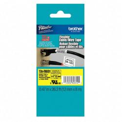 Brother(R) TZ-FX631 Extra-Strength Flexible Label Maker Tape, 0.5in. x 26.2ft., Black Print/Yellow Label