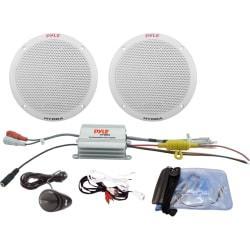 Pyle 2 Channel Waterproof MP3/iPod Amplified 6.5ft.' Marine Speaker System