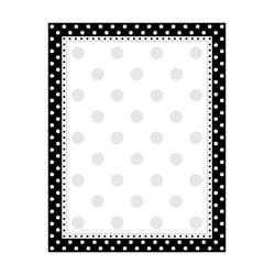 Barker Creek Computer Paper, 8 1/2in. x 11in., Black-And-White Dot, Pack Of 50 Sheets
