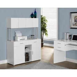 Monarch Specialties Office Cabinet Credenza, White