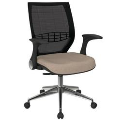 Office Star(TM) Pro-Line II ProGrid Fabric High-Back Chair, Cotton/Black/Silver