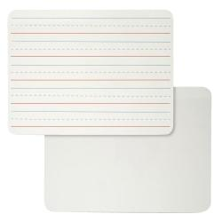 Charles Leonard 2-Sided Plain/Lined Magnetic Dry-Erase Lap Boards, Masonite, 9in. x 12in., White, Pack Of 4