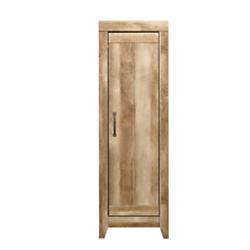 Sauder Adept Engineered Wood Narrow Storage Cabinet, 3 Adjustable Shelves, Craftsman Oak