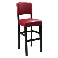 Linon Home Decor Products Monaco Counter Stool, 24in.H, Dark Red/Espresso