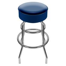 Trademark Global High-Grade Padded Bar Stool, Blue/Chrome