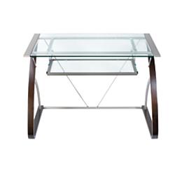 Realspace Merido Computer Desk, 30in.H x 42in.W x 27 1/2in.D, Espresso/Silver