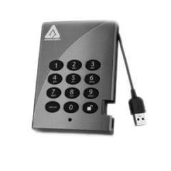 Apricorn Aegis Padlock A25-PL256-S128 128 GB Solid State Drive - External - Portable