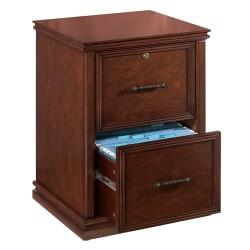 Realspace(R) Premium Wood File Cabinet, 2 Drawers, 30in.H x 21in.W x 18 9/10in.D, Dark Cherry
