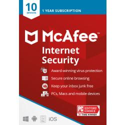 McAfee(R) Internet Security, For 10 Devices, For PC/Mac, eCode