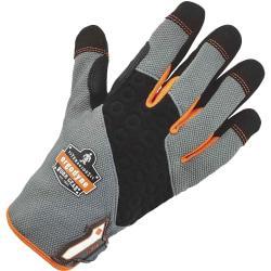 Ergodyne ProFlex 820 High-abrasion Handling Gloves - 10 Size Number - X-Large Size - Neoprene Knuckle, Poly - Black - Reinforced Saddle, Hook Loop Closure, Pull