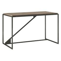 Bush Furniture Refinery Industrial Desk, 50in.W, Rustic Gray, Standard Delivery