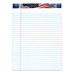 TOPS(R) Perforated American Pride Writing Pads, 8 1/2in. x 11 3/4in., Legal Ruled, 50 Sheets, White, Pack Of 3 Pads