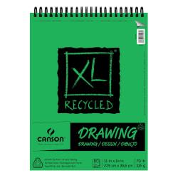 Canson XL Drawing Pads, 11in. x 14in., 60 Sheets Per Pad, Pack Of 2 Pads