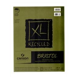 Canson XL Recycled Bristol Pad, 11in. x 14in., Fold-Over, Pad Of 25 Sheets
