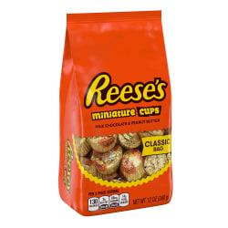 Reese's Peanut Butter Cup Miniatures Stand-Up Bags, 12 Oz, Pack Of 3